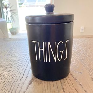 "🎃 Rae Dunn ""Things"" Black Canister"